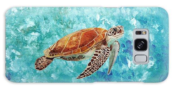 Turtle Swimming Galaxy Case