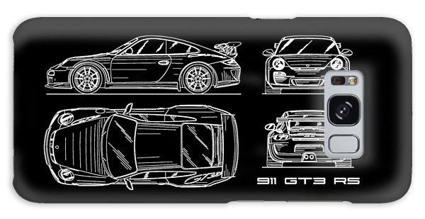 Sports Car Galaxy Case - 911 Gt3 Rs Blueprint by Mark Rogan