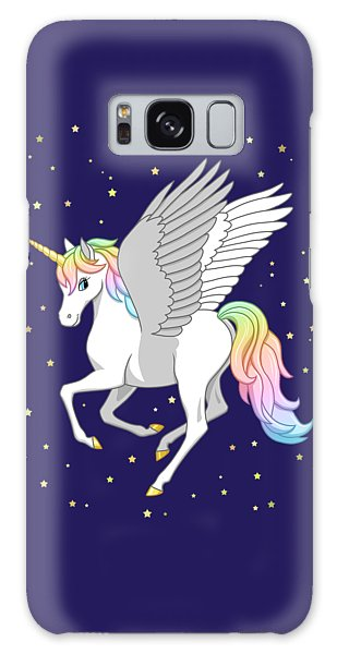 Pegasus Galaxy S8 Case - Pretty Rainbow Unicorn Flying Horse by Crista Forest