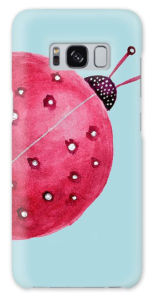 Beautiful Abstract Watercolor Ladybug Galaxy Case