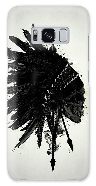 Native American Galaxy Case - Warbonnet Skull by Nicklas Gustafsson