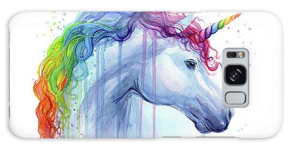 Magician Galaxy S8 Case - Rainbow Unicorn Watercolor by Olga Shvartsur