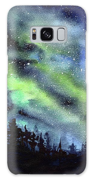 Galaxy Galaxy Case - Galaxy Watercolor Nebula Northern Lights by Olga Shvartsur
