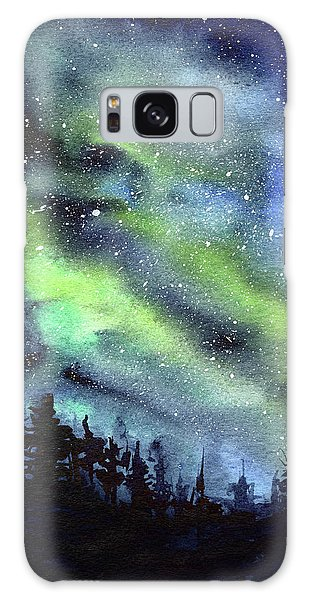 Outer Space Galaxy Case - Galaxy Watercolor Nebula Northern Lights by Olga Shvartsur