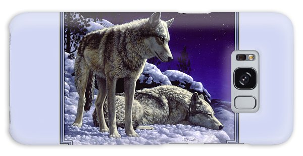 Wildlife Galaxy Case - Wolf Painting - Night Watch by Crista Forest
