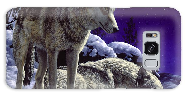 Forest Galaxy Case - Wolf Painting - Night Watch by Crista Forest