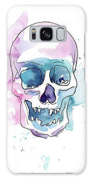 Skull Galaxy Case - Skull Watercolor Abstract by Olga Shvartsur