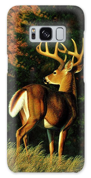 White-tailed Deer Galaxy Case - Whitetail Buck - Indecision by Crista Forest