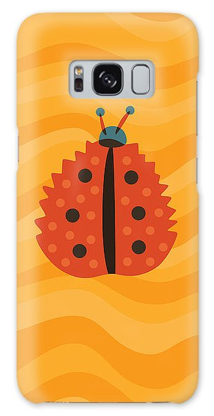 Orange Ladybug Masked As Autumn Leaf Galaxy Case