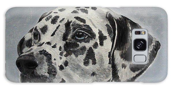 Dalmatian Portrait Galaxy Case