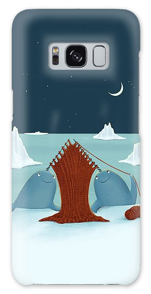 Knitting Narwhals Galaxy Case