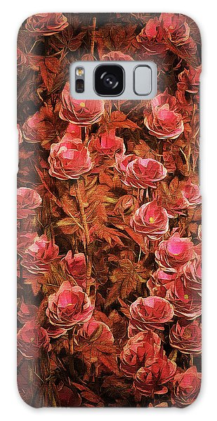 Pink Bionica Roses Galaxy Case