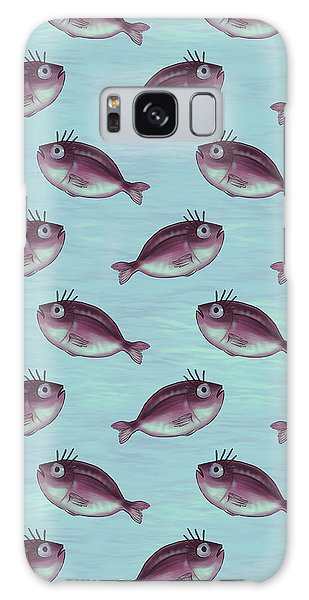 Funny Fish With Fancy Eyelashes Galaxy Case