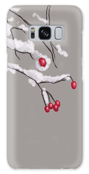 Winter Berries And Branches Covered In Snow Galaxy Case
