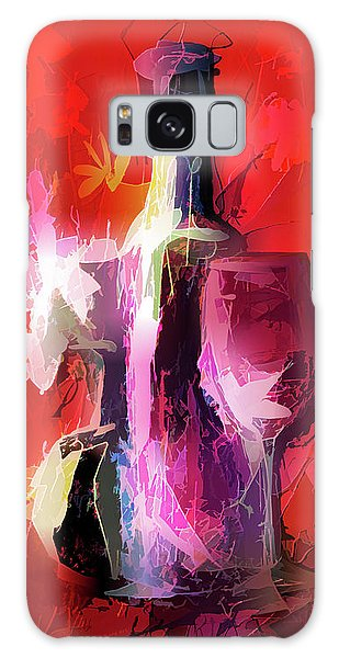 Fun Colorful Modern Wine Art   Galaxy Case