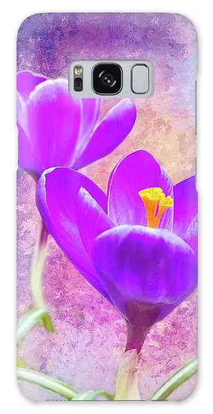 Our First Crocuses This Spring Galaxy Case