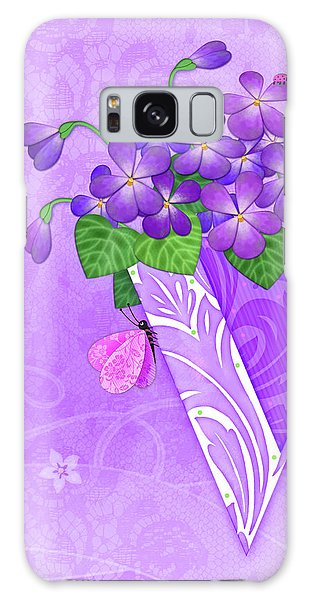 V Is For Violets Galaxy Case