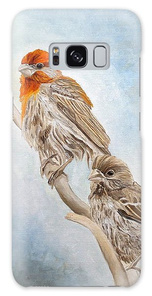 House Finch Couple Galaxy Case