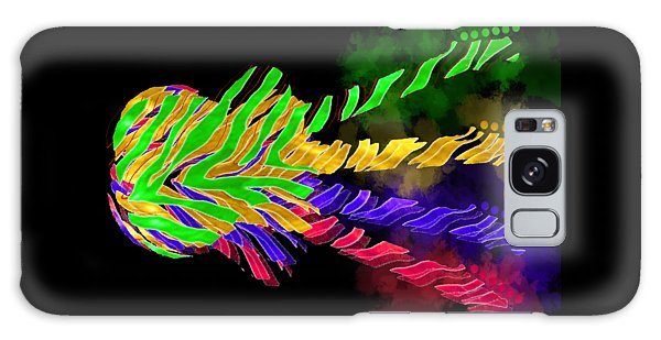 Galaxy Case featuring the digital art The Four Guitars by Guitar Wacky