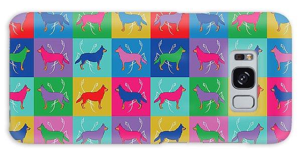 Pop Art German Shepherd Dogs Galaxy Case