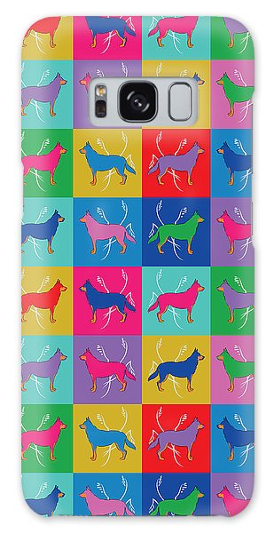Pop Art German Shepherd Dogs Galaxy Case