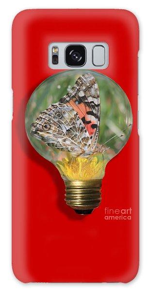 Butterfly In Lightbulb Galaxy Case