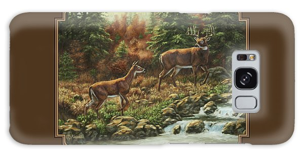 White-tailed Deer Galaxy Case - Whitetail Deer - Follow Me by Crista Forest