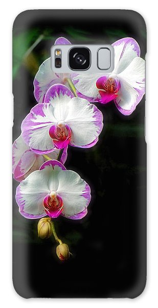 Cascading Orchid Beauties Galaxy Case