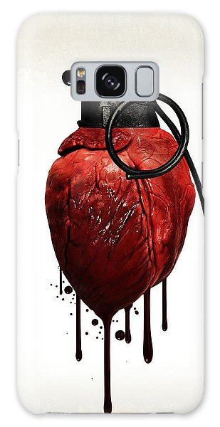 Peace Galaxy Case - Heart Grenade by Nicklas Gustafsson