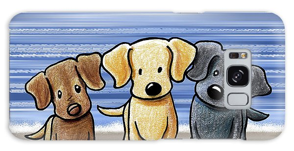 Chocolate Lab Galaxy Case - Labrador Beach Trio by Kim Niles