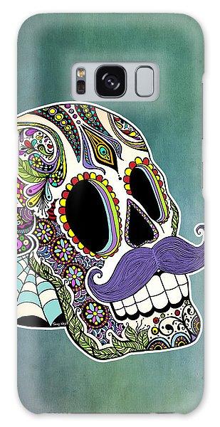 Calavera Galaxy Case - Mustache Sugar Skull by Tammy Wetzel