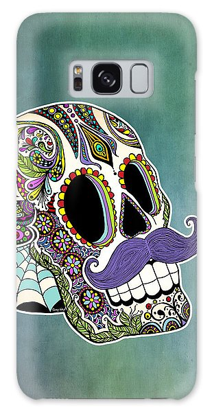 Mustache Sugar Skull Galaxy Case