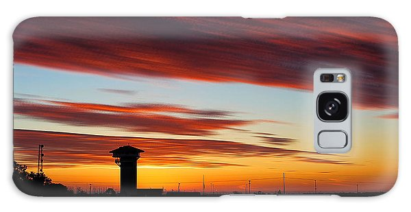Sunrise Over Golden Spike Tower Galaxy Case by Bill Kesler