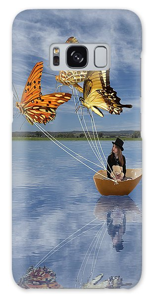 Butterfly Sailing Galaxy Case