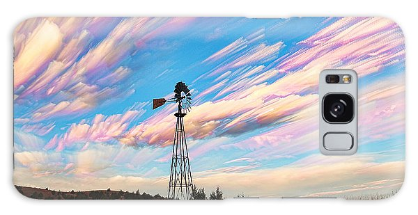 Crazy Wild Windmill Galaxy Case by Bill Kesler