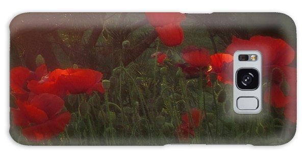 Sunset In The Poppy Garden Galaxy Case