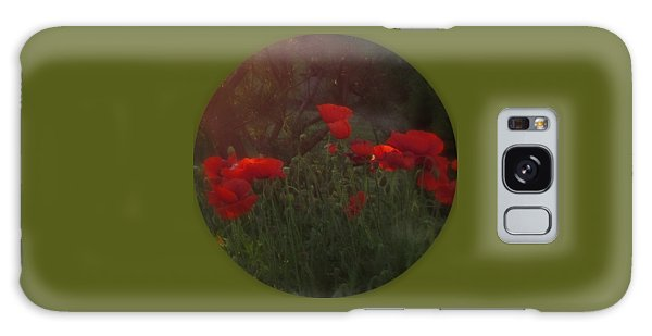 Sunset In The Poppy Garden Galaxy Case by Mary Wolf