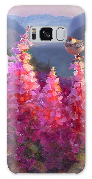 Eagle River Summer Chickadee And Fireweed Alaskan Landscape Galaxy Case