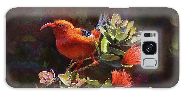 Hawaiian IIwi Bird And Ohia Lehua Flower Galaxy Case