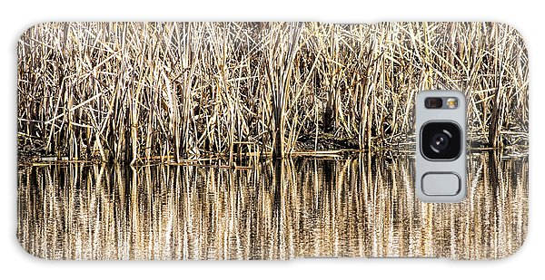 Golden Reed Reflection Galaxy Case by Bill Kesler
