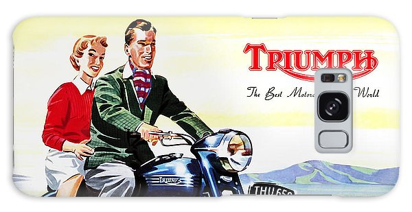 Motorcycle Galaxy Case - Triumph 1953 by Mark Rogan