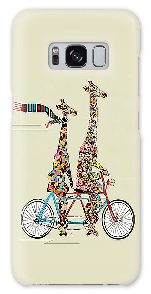 Galaxy Case - Giraffe Days Lets Tandem by Bleu Bri