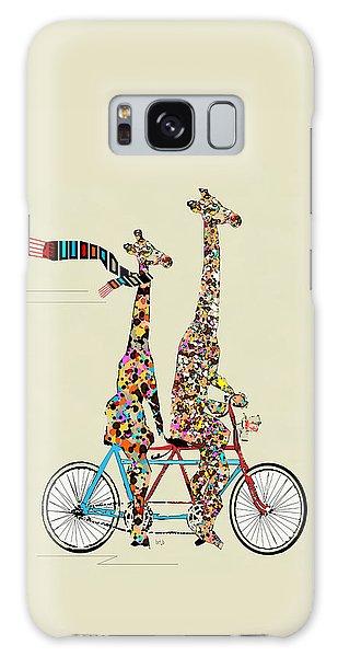 Fine Galaxy Case - Giraffe Days Lets Tandem by Bri Buckley