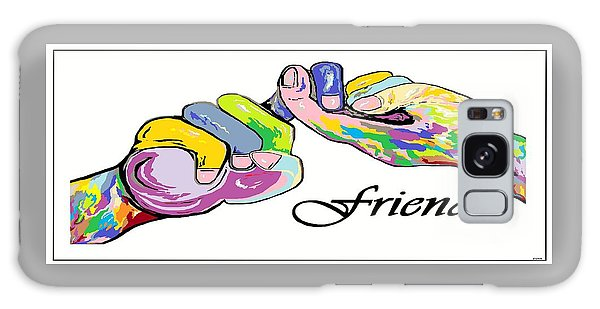 Friends . . . An American Sign Language Painting Galaxy Case