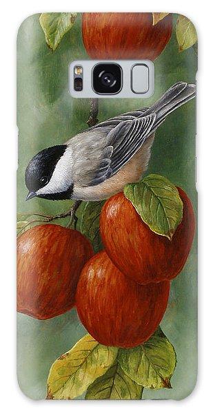 Chickadee Galaxy S8 Case - Bird Painting - Apple Harvest Chickadees by Crista Forest