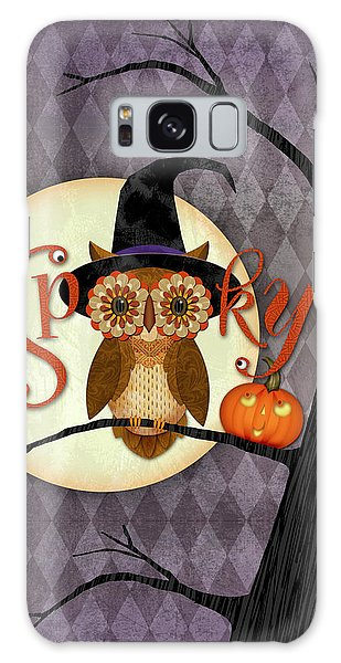 Autumn Galaxy Case - Spooky Owl by Valerie Drake Lesiak