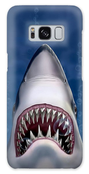 Jaws Great White Shark Art Galaxy Case