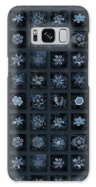 Snowflake Collage - Season 2013 Dark Crystals Galaxy Case