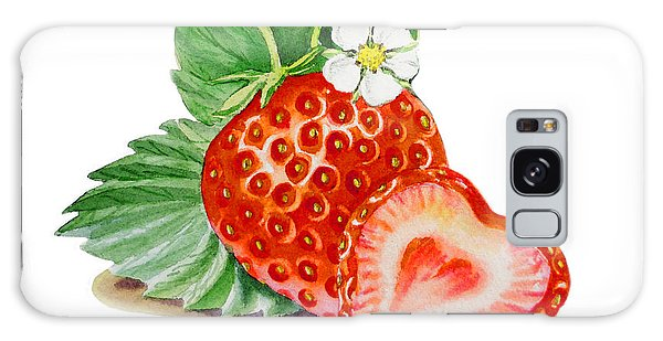 Artz Vitamins A Strawberry Heart Galaxy Case by Irina Sztukowski