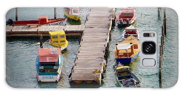 Colorful Fishing Boats Galaxy Case by Jean Marie Maggi